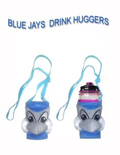 Designed these drink holders in the shape of the Blue Jays Mascot.