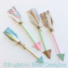 Wood Arrows, Set of Tribal Decor, Modern Decor, Feathers, Hand Painted… Crafts To Make, Crafts For Kids, Diy Crafts, First Birthday Parties, First Birthdays, Girls Room Paint, Girl Rooms, Tribal Decor, Tribal Theme