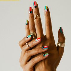 We love these arty nails!