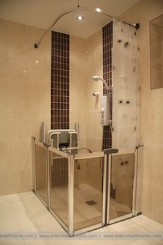 disabled shower closed half height doors this is a lovely shower and its quite