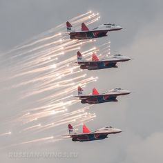 Russian aerobatic team Strizhi (The Swifts)