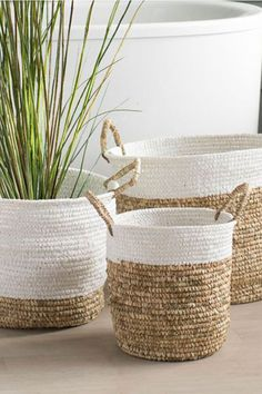 A handmade marketplace for homeware and decor from around the world. Sisal, Plant Basket, Rope Basket, House Plants Decor, Plant Decor, Upcycled Home Decor, Diy Home Decor, Decoration Plante, African Home Decor