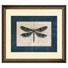 Dragonfly Framed Print IV