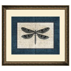 Dragonfly Framed Print IV
