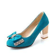 Flokker kvinner Chunky Heel pumper med bowknot sko (flere farger) – NOK kr. 165