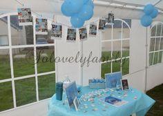 Table à dragées Baptème Mer, Bateau, blanc et Bleu