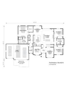 The Brooklynn, Plan 2315 Home Office Bedroom, Luxury Bath, Square Feet, Great Rooms, Ranch, New Homes, Floor Plans, Flooring, How To Plan
