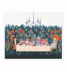Tea Party Illustrated Art Print | Rifle Paper Co | Illustrations