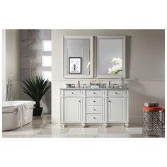 "Best Deal - James Martin Bristol 60"" Double Bathroom Vanity, Cottage White 157-V60D-CWH"