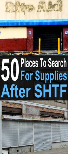 When thinking about scavenging, everyone's first instinct is to head for grocery stores and restaurants. But if you think outside the box, you'll realize there are many other places you could find useful items. #urbansurvival #citysurvival #shtf #scavenging #survivalsupplies