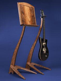 WM Claro Walnut Guitar Stand and Music Stand