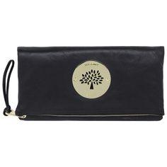 mulberry daria clutch. in perfect, soft, black leather.