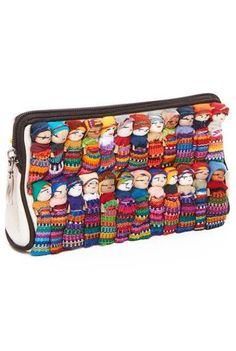 Cotton Canvas Worry Doll Cosmetic Bag... I could totally make this