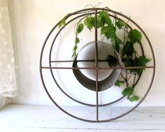 Antique Hose Reel  Industrial Decor  Garden by PaperBoysVintage