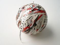 Stefana McClure - BALL OF WOOL - 2009 - Cut paper, circumference 27 cm
