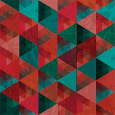 Grunge Coloured Triangles