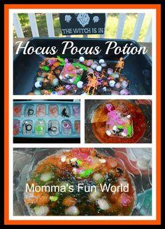 Momma's Fun World: Halloween witch jello/ice sensory play