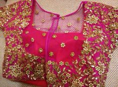 pearl work blouse