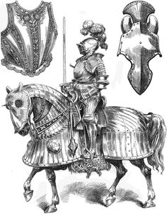 Knight with Fully Barded Horse