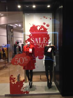 Sale displays are usually so boring this is great #windowdisplay #sale