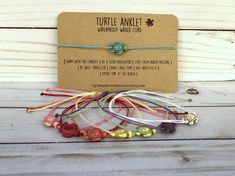Diy Jewelry Tags, Ankle Chain, Summer Accessories, Ankle Bracelets, Stone Beads, Hand Stamped, Turtle, Place Card Holders, Red Coral