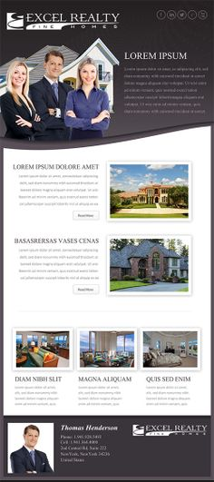35 Outstanding HTML Email Newsletter Templates business style - example of flyers