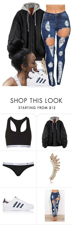 """untitled #146"" by yani122 ❤ liked on Polyvore featuring Topshop and adidas"