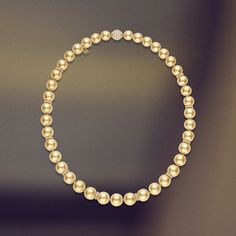 Strung to perfection with fine silk, Mikimoto Golden South Sea pearls.