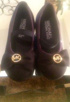 kids shoes Michael Kors Ellen Mae Black Suede Girls Mini Heels Size 6  #MichaelKors #Heels