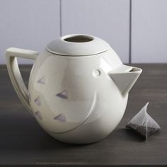 Ceramic Bird Teapot - modern - coffee makers and tea kettles - Graham and Green