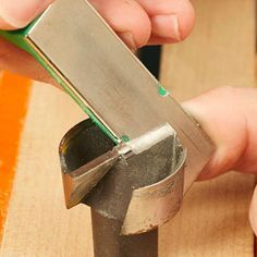 How to sharpen Forstner bits