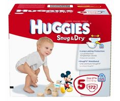 Huggies Snug & Dry Diapers, Size 5, 172-Count - http://www.intomars.com/huggies-snug-dry-diapers-size-5.html