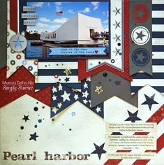 Pearl Harbor - scrapbook layout created with the Simple Stories Hero collection