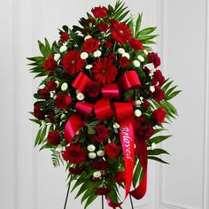 Time tested, beautiful funeral and sympathy flowers. The Toronto Flower Company will hand deliver arrangements to hospitals and funeral homes. Flowers For Men, Popular Flowers, Red Flowers, Red Roses, Button Flowers, Funeral Bouquet, Funeral Flowers, Mini Carnations, Gerbera Daisies