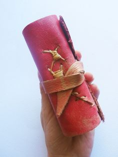 Handmade paper leather journal with visible and by UselessPaper, $30.00