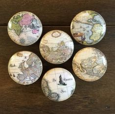 inch old world maps cabinet knobs drawer pulls brown antique look by HolyChicBoutiqueCo on Etsy Knobs And Handles, Drawer Knobs, Knobs And Pulls, Cabinet Knobs, Drawer Pulls, Door Handles, Door Knobs, Unique Bedside Tables, Hanging Table