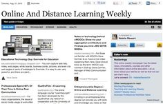 Aug 7 - Online And Distance Learning Weekly:  This online weekly newspaper has the latest news, innovations, courses and other information about online education.  Read and subscribe free at:  http://paper.li/NattyStewart24/1325359513