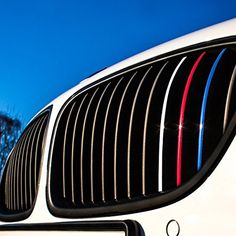 Wandkings® Grille Stripe Decals for Kidney Grills - Reflective Colors (Dark Blue, Red, White-Silver, Light Blue) - BMW Car Platform All Bmw Models, Bmw White, Dark Blue, Light Blue, Front Grill, Led Tail Lights, Light Covers, Grilling, Decals