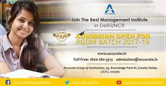 For Inquiry or Admission Assistance for PGDM Please Call on 1800-180-3515 or Visit at:http://apply.accurate.in/