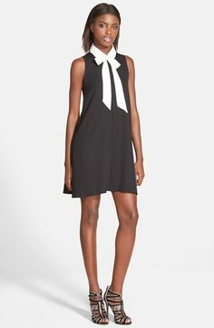 GLAMOROUS Sleeveless Tie Neck Dress available at #Nordstrom