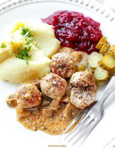 Pulpeciki w sosie musztardowym z pieczarkami Fast Dinners, Polish Recipes, Salmon, Dinner Recipes, Food And Drink, Meals, Ethnic Recipes, Per Diem, Cooking