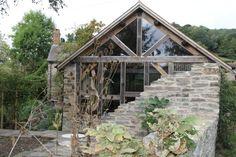 Castle Ring Oak Frame #timberframe extension on stone farmhouse