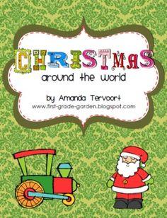 Christmas Around the World 9-Day Unit - First Grade Garden - TeachersPayTeachers.com