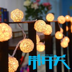 Night Lights Information about 20 LEDs 2m Fairy LED String Lights AA  Battery Rattan Ball Lamparas 5ea6dabc82b6