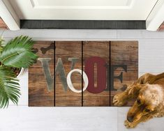 Welcome guests to your door, and let them know that you have a pet dog too! Choose ecoTrend recycled rubber doormats: they are eco-friendly, made from used car and truck tires diverted from landfills. Easy Tile, Indoor Outdoor Rugs, Outdoor Decor, Patio Rugs, Rubber Mat, Commercial Flooring, Recycled Rubber, Doormats, Front Door Decor