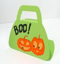 Handmade card Halloween Boo card Pumpkin card by McRtyCards