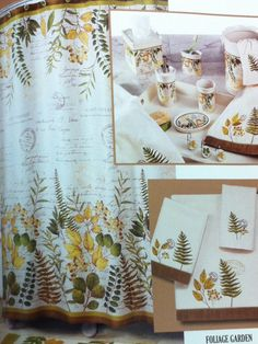 Foliage Garden Shower Curtain and Accessories starting at $18.99. To Order Call toll-free 877-722-1100
