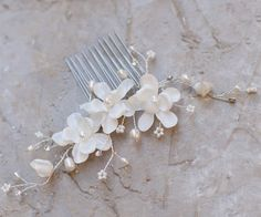 Beaded Flower Hair Comb ~ Delight - Hair Comes the Bride Bridal Hair Accessories & Headpieces, Wedding Jewelry, Hair & Makeup