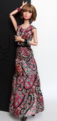 Boho long dress Pink Paisely