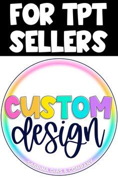 Custom Logo Design for Teacher Pay Teachers Sellers #tptsellers #teacherspayteachers #teacherspayteacherssellers